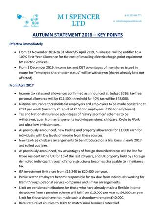 AUTUMNSTATEMENT2016 keypoints